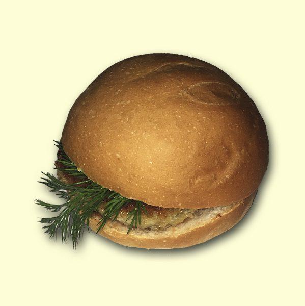 """Бутерброд """"Гамбургер"""" с печеночной котлетой"""